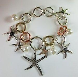 Jewelry - New Sea Life Tri-color Starfish Charm Bracelet